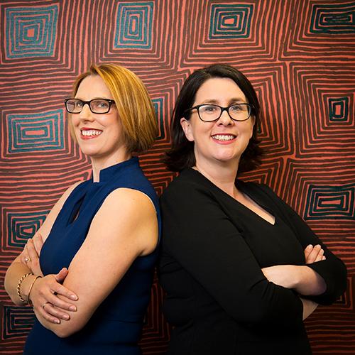 Professors Fiona Arney and Leah Bromfield